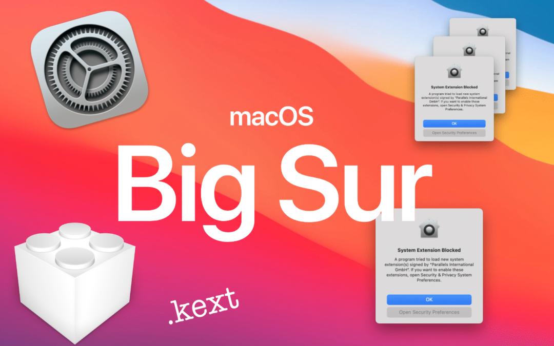 Réparer les extensions système de votre Mac après la mise à jours vers MacOS Big Sur
